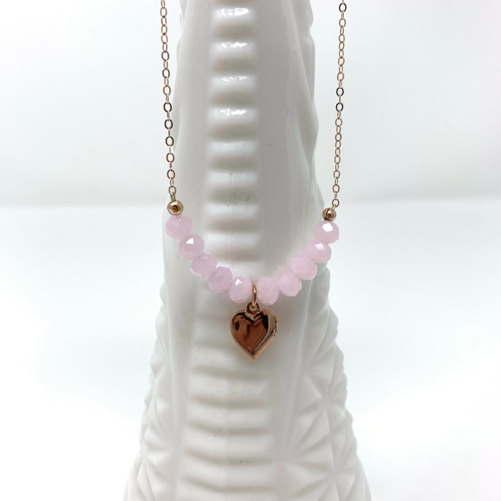 Sisters Heart Locket in Rose Gold