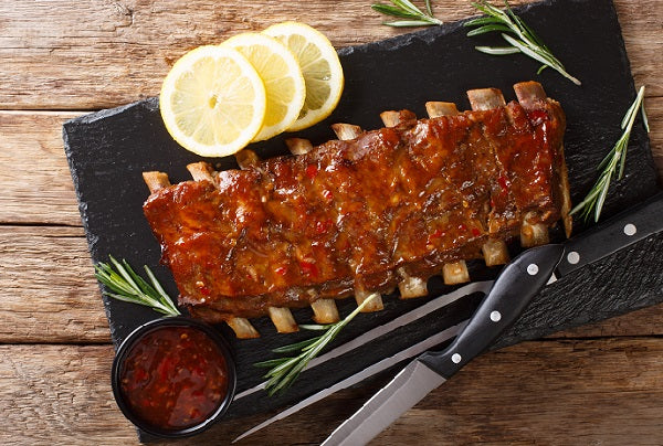 Pork Back Ribs - Fully Cooked (20-24 oz) 3x 2/pak