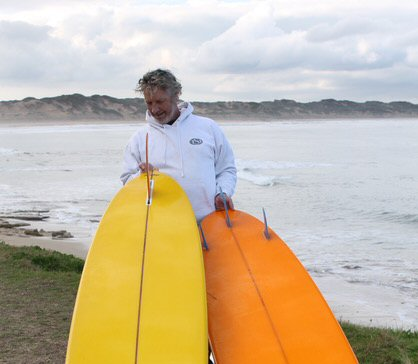 Dr Surf with Mick Pierce boards