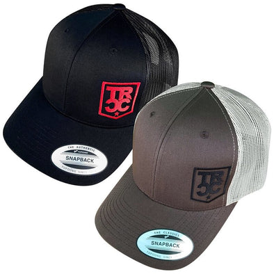TRCC Trucker Hat With Shield Logo, Mesh Snapback