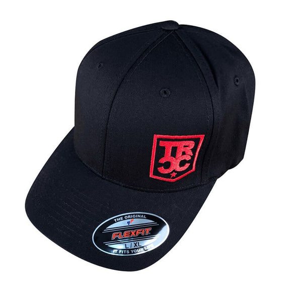 TRCC Trucker Hat With Embroidered Shield Logo, Canvas Flexfit, Black