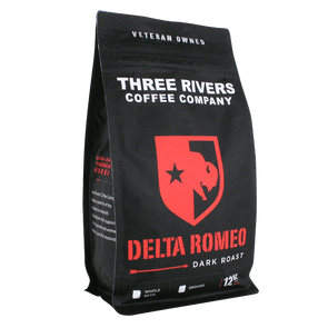 TRCC Delta Romeo Dark Roast Coffee 12 OZ Bag