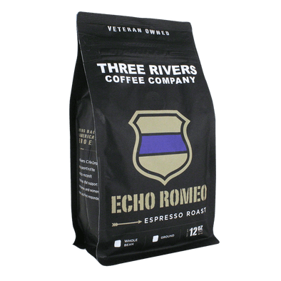 TRCC Echo Romeo Espresso Roast Coffee 12 OZ Bag