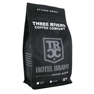 TRCC Hotel Bravo House Blend Coffee Roast 12 OZ Bag