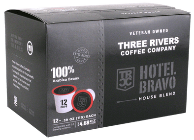 TRCC Hotel Bravo Coffee Pods 12 Pack Front