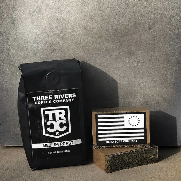 Three Rivers Coffee Soap And Medium Roast Coffee