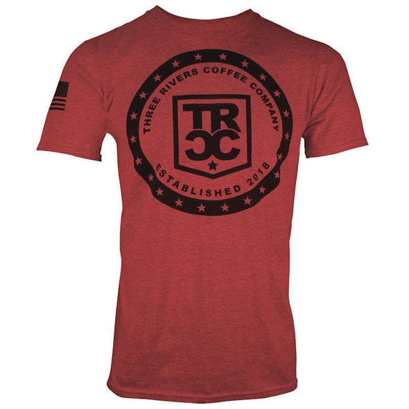 TRCC 22 Stars Logo T-Shirt, Red