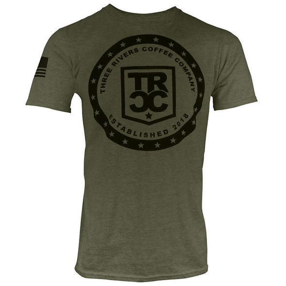 TRCC 22 Stars Logo T-Shirt, Military Green
