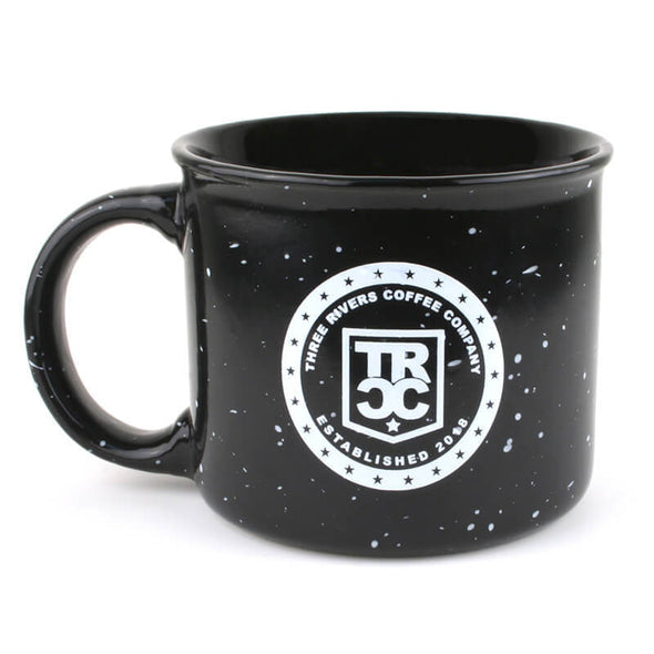 TRCC Black Coffee Mug 16 OZ - Three Rivers Coffee Company