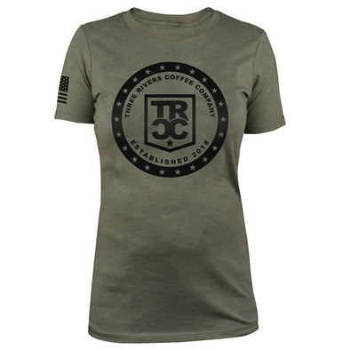TRCC Women's 22-Stars Logo T-Shirt - Three Rivers Coffee Company