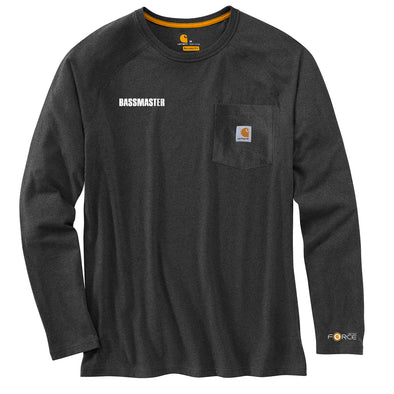 Carhartt Force® Cotton Delmont Grey Long-Sleeve T-Shirt