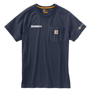Carhartt Force® Cotton Delmont Navy Short-Sleeve T-Shirt