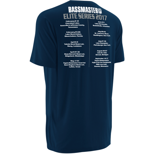 Bassmaster Elite Schedule 2017 Navy T-Shirt