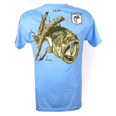 Bassmaster Get That Worm Light Blue Heather T-Shirt