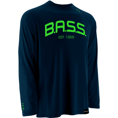 Bassmaster BASS Raglan Long Sleeve T-Shirt - Navy