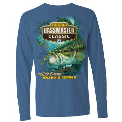 2017 Bassmaster Classic Houston, TX Indigo Long Sleeve T-Shirt
