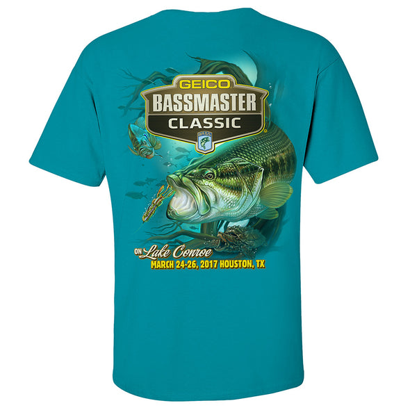 2017 Bassmaster Classic Houston, TX Tropical Blue Short Sleeve T-Shirt