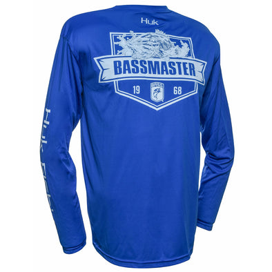Bassmaster Breaking Water Royal Blue Long Sleeve Raglan Tee