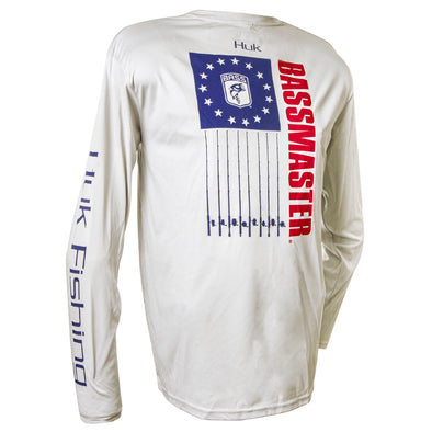Bassmaster Bass Nation Performance White Long Sleeve Tee