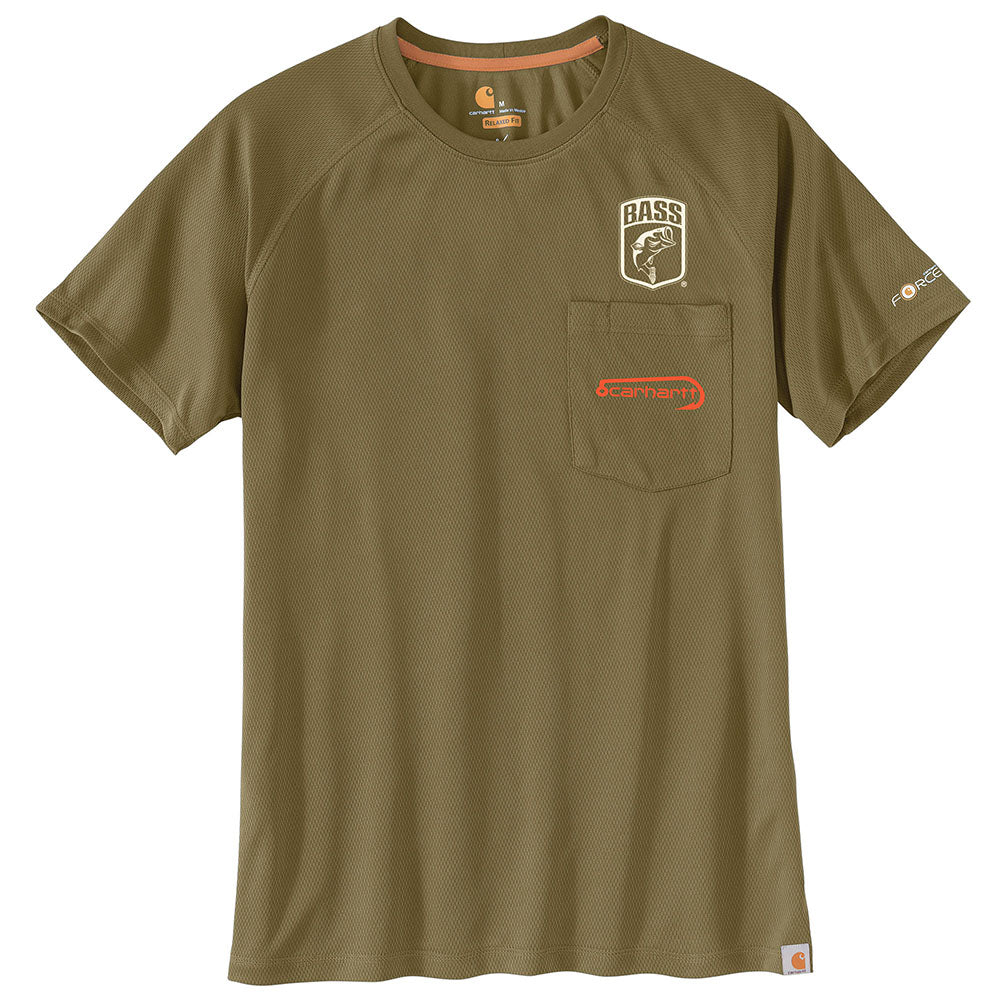 46422442 Carhartt® Force Fishing Graphic Military Olive Pocket Short Sleeve T-Shirt