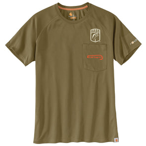 Carhartt® Force Fishing Graphic Military Olive Pocket Short Sleeve T-Shirt