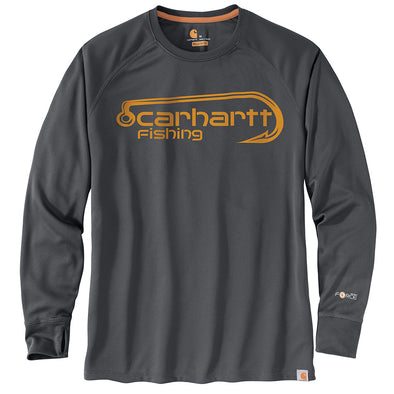 Carhartt® Force Fishing Graphic Shadow Long-Sleeve T-Shirt