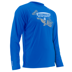 Huk Bassmaster Membership Blue Long Sleeve T-Shirt