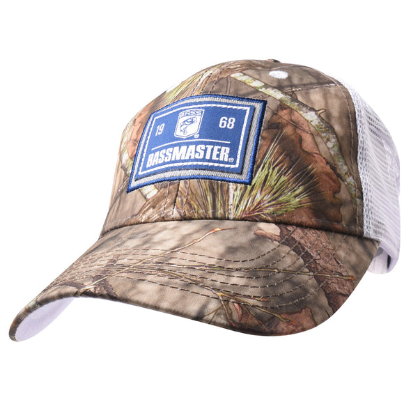 Bassmaster Camo/Blue Patch Trucker Hat