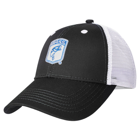 Bassmaster Youth Black Patch Trucker Hat