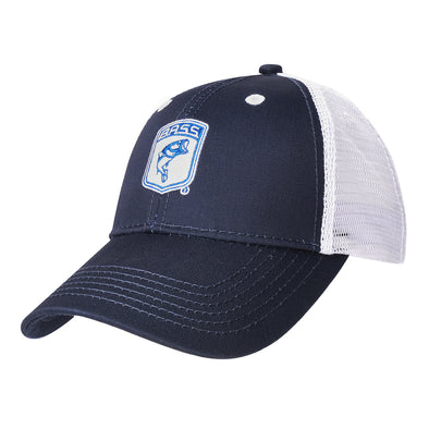 Bassmaster Youth Navy Patch Trucker Hat