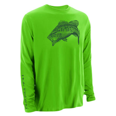 Huk® Performance Bass Neon Green Long Sleeve T-Shirt