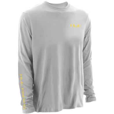 Huk® KC Scott PF Twilight White Long Sleeve T-Shirt