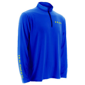 Huk® Icon Royal Blue 1/4 Zip Sweatshirt