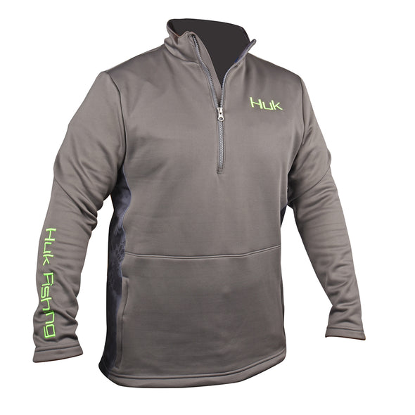 Huk® Charcoal Gray 1/4 Zipper Fleece