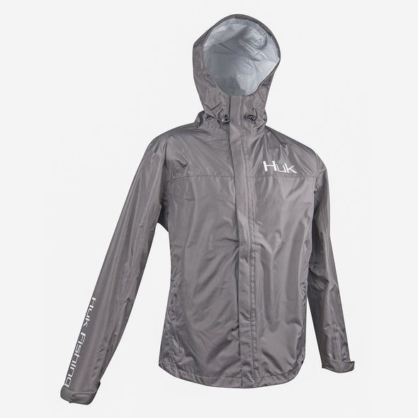 Huk® Charcoal Gray Packable Rain Jacket