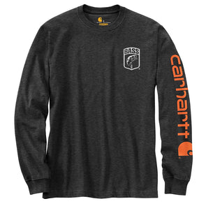 Carhartt® Signature Sleeve Logo Carbon Heather Long Sleeve T-Shirt