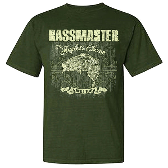 Bassmaster Vintage Comfort Color Green Short Sleeve T-Shirt