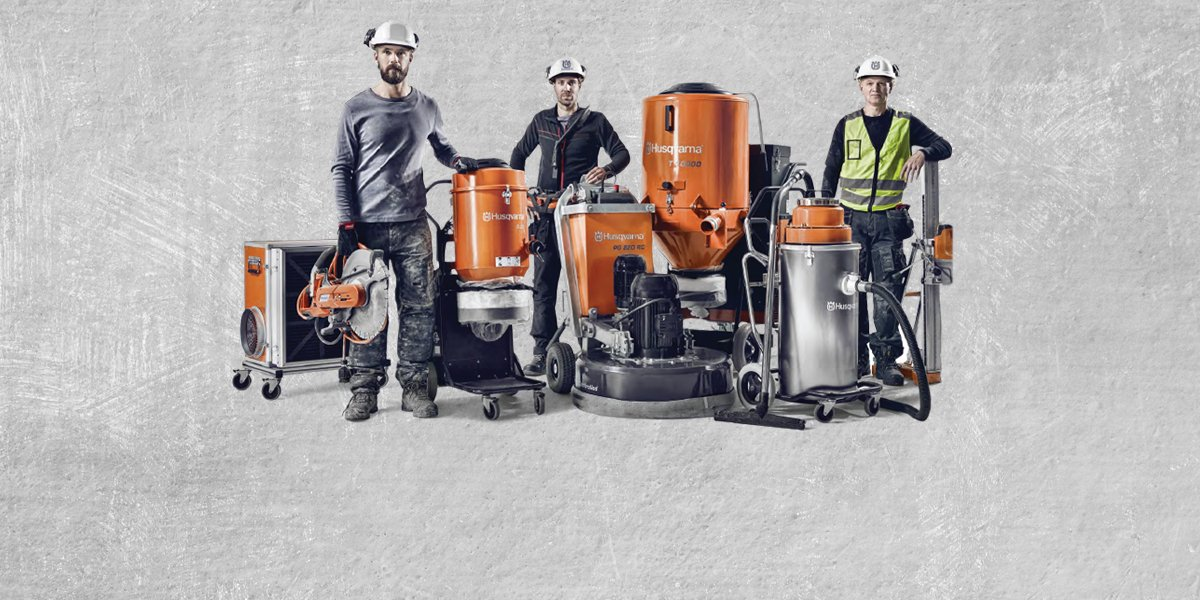 Husqvarna's new DUST & Slurry Systems