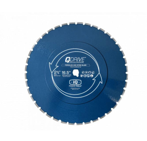 "16.5"" Q-Drive Segmented Porcelain Blue Blade iQ Power Tools"