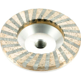 "Aluminum 4"" Resin Diamond Cup Wheel Concrete Grinding"