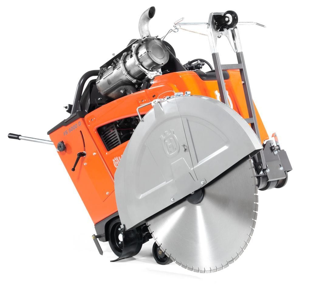 FS5000 Husqvarna Diesel Concrete Saw 3-Speed Gearbox