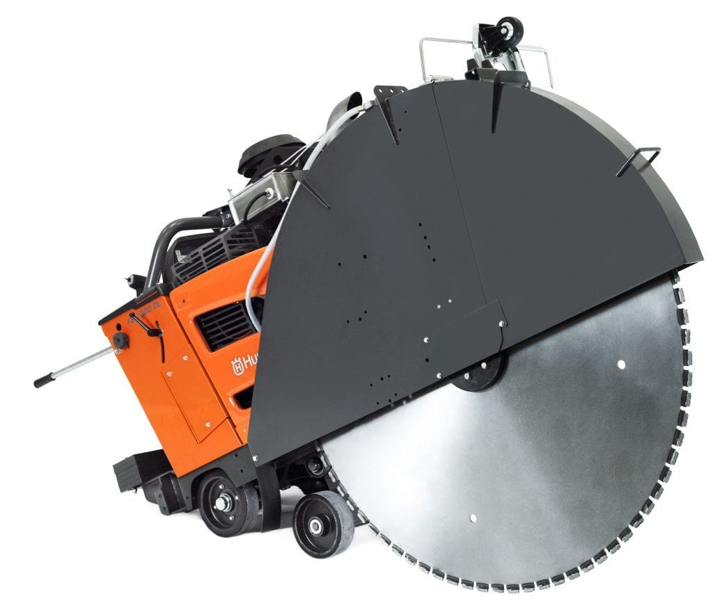 FS7000DL Husqvarna 3-Speed Diesel Concrete Saw - Deep Cutting