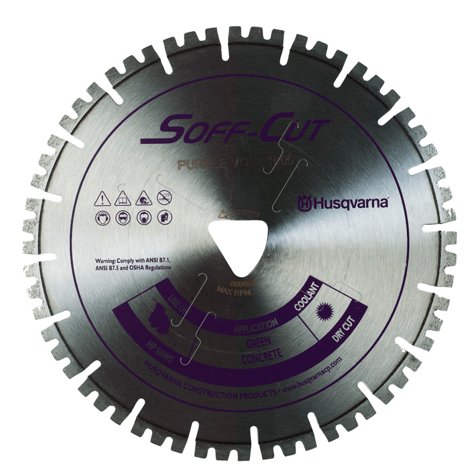 Soff Cut Vari-Cut Purple Husqvarna Diamond Blade