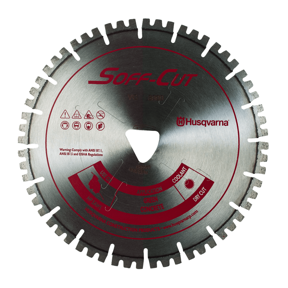 Soff Cut Vari-Cut Red Early Entry Husqvarna Diamond Blade