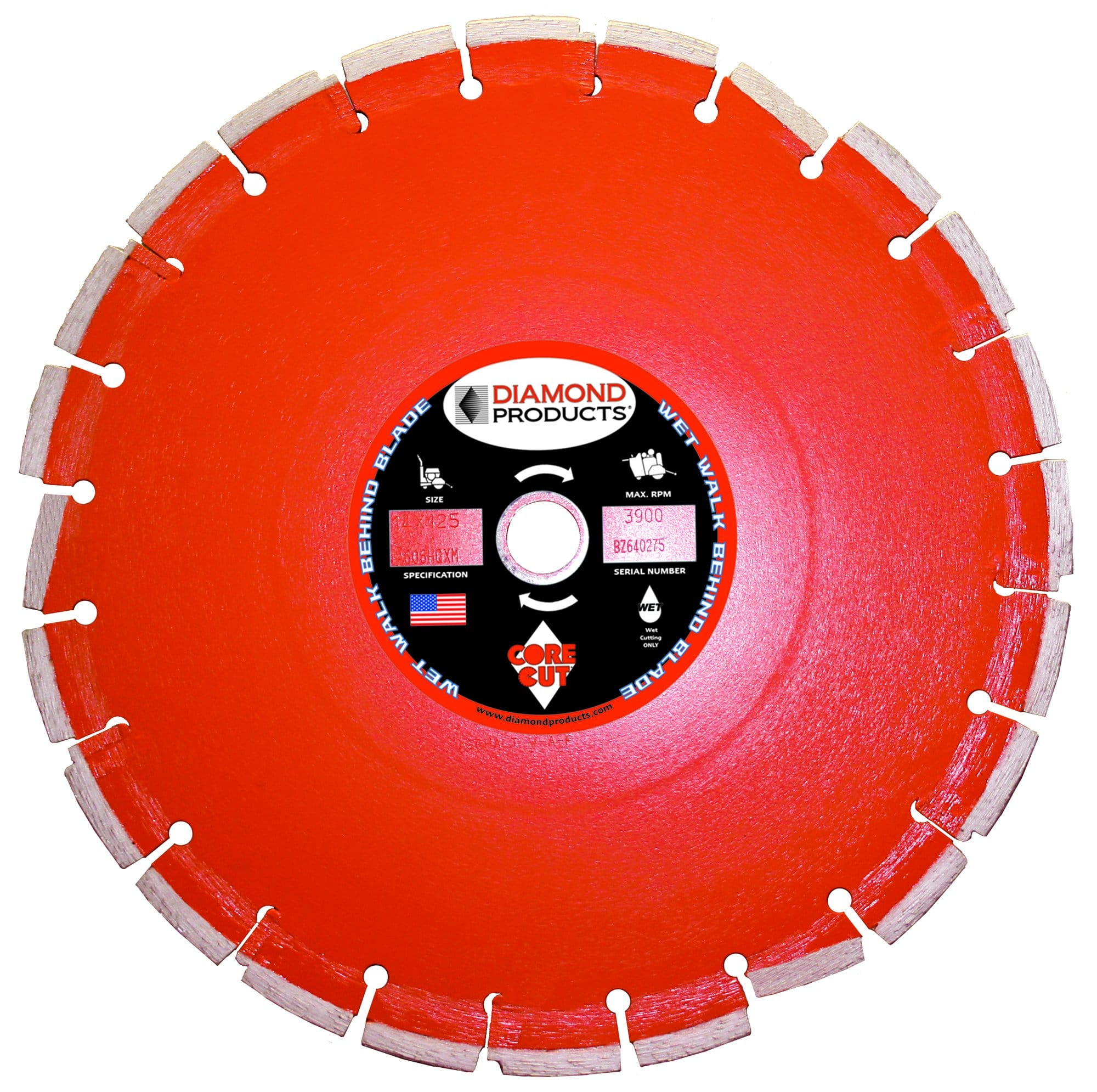 Heavy Duty Orange Cured Concrete Wet Diamond Blade