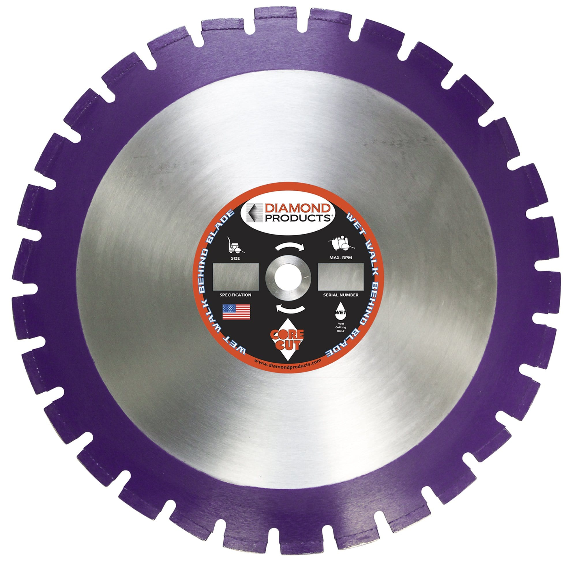 Asphalt Imperial Purple Wet Diamond Blades