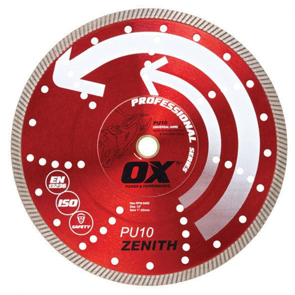 "OX PU10 Turbo 14"" Diamond Blade for Hard Materials"