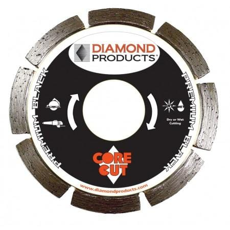 "D43 Early Entry 8"" Diamond Blade Green Concrete"