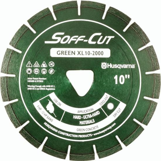 Soff Cut Excel 2000 Series Green Husqvarna Diamond Blade