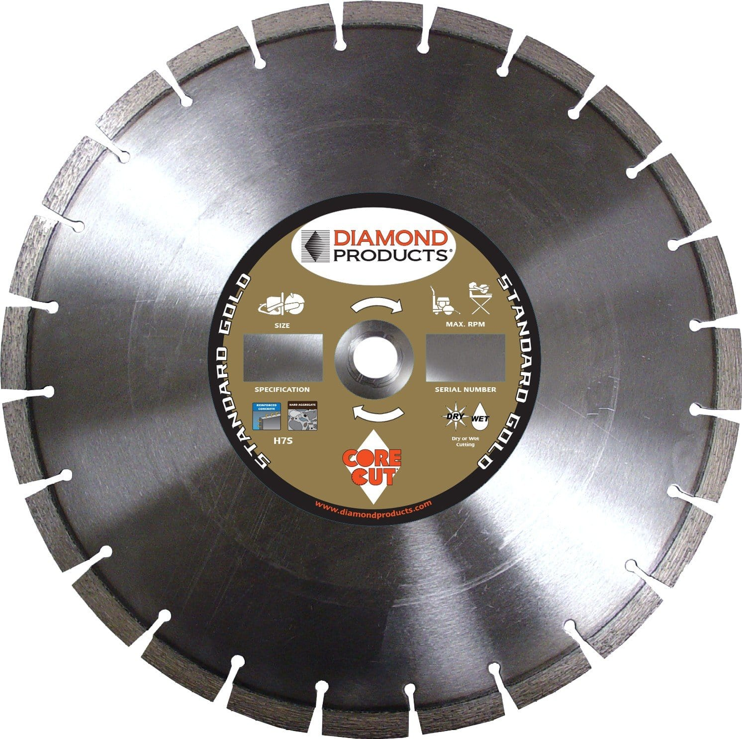 Standard Gold High Speed Diamond Blade